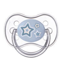 CANPOL BABIES Cumlík silikónový symetrický NEWBORN BABY 6-18m  modrý
