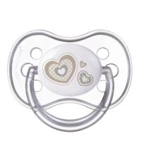 CANPOL BABIES Cumlík silikónový symetrický NEWBORN BABY 18 + m béžový
