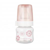 CANPOL BABIES Fľaša sa širokým hrdlom NEWBORN BABY ružová 60 ml