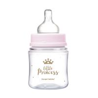 CANPOL BABIES Fľaša sa širokým hrdlom ROYAL BABY ružová 120 ml