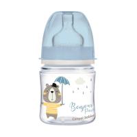 CANPOL BABIES Fľaša sa širokým hrdlom BONJOUR PARIS modrá 120 ml