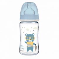 CANPOL BABIES Fľaša sa širokým hrdlom BONJOUR PARIS modrá 240 ml