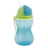 CANPOL BABIES Flaša športová so slamkou modrá 370 ml