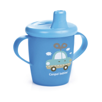 CANPOL BABIES Nevylievací hrnček TOYS modrý 250 ml
