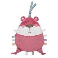CANPOL BABIES Plyšový maznáčik PASTEL FRIENDS ružový medvedík