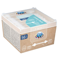 CANPOL BABIES Vatové tyčinky s obmedzovačom papierové 56 ks