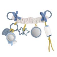 CANPOL BABIES Závesná hračka na kočík / autosedačku PASTEL FRIENDS šedá