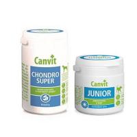 CANVIT Chondro Super 230 g + CANVIT Junior pre psov 100 g
