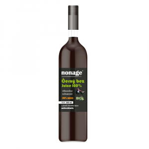 NONAGE Čierna baza 100% Juice Premium 500 ml BIO