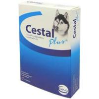 CESTAL Plus odčervovacie tablety pre psov 8 žuvacích tabliet
