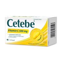 CETEBE Vitamín C 500 mg s postupným uvoľňovaním 60 kapsúl