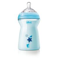 CHICCO Fľaša dojčenská Natural Feeling 6m+ Chlapec 330 ml