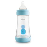 CHICCO Fľaša dojčenská Perfect 5 silikón Chlapec 240 ml
