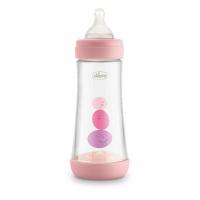 CHICCO Fľaša dojčenská Perfect 5 silikón Dievča 300 ml