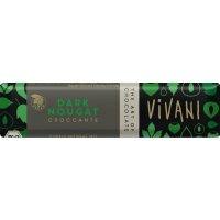 VIVANI Čokoládová tyčinka nugátová tmavá 35 g BIO