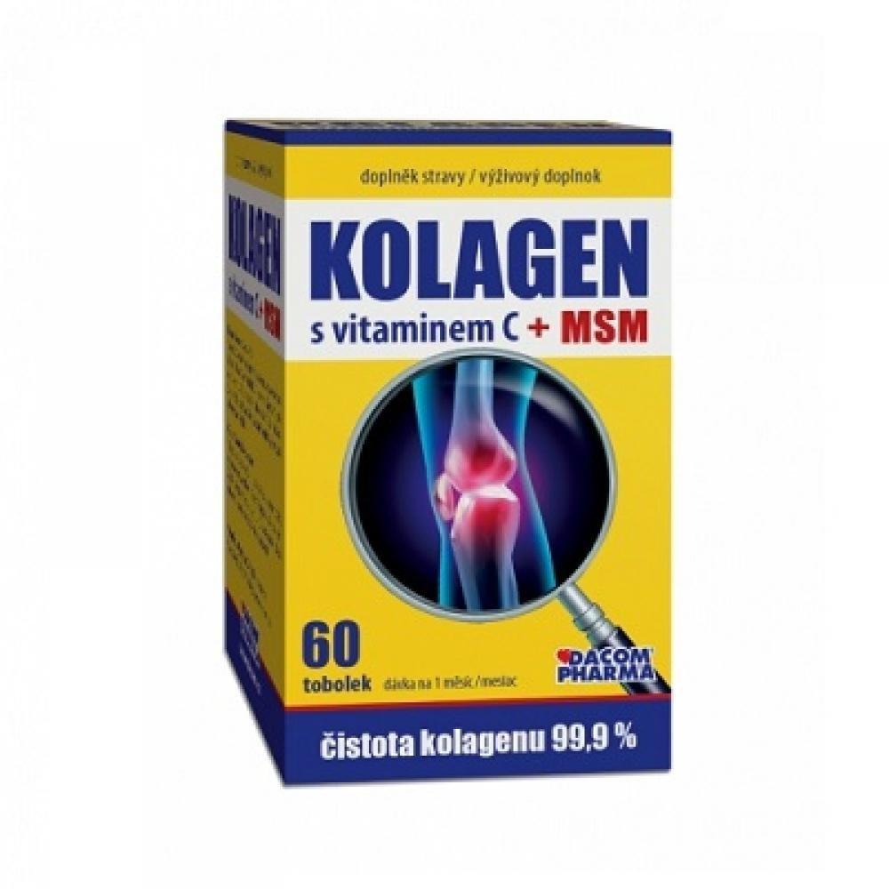DACOM PHARMA Kolagen s vitamínem C + MSM 60 kapsúl