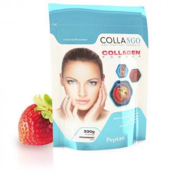 COLLANGO Collagen hydrolyzovaný kolagén s vitamínom C a so zinkom príchuť jahoda 330 g