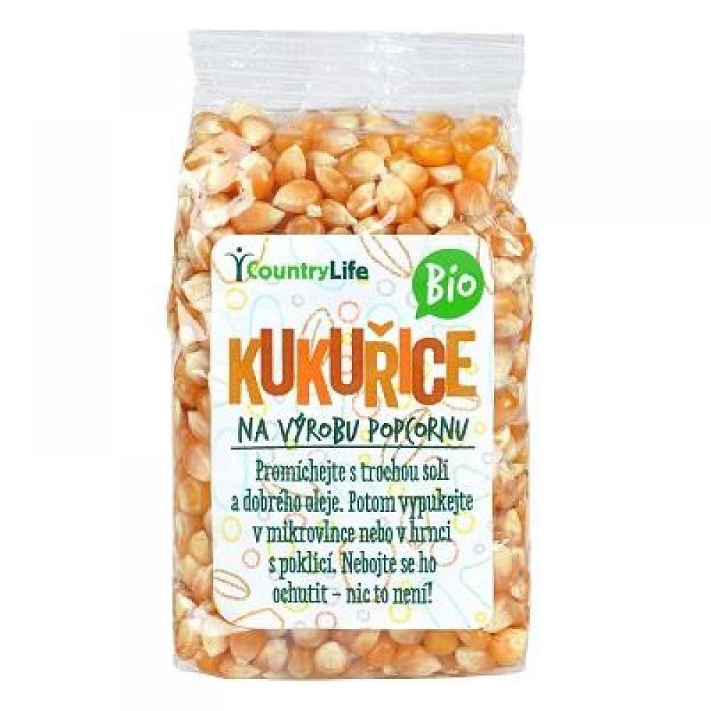 COUNTRY LIFE Kukurica na výrobu popcornu BIO 200 g