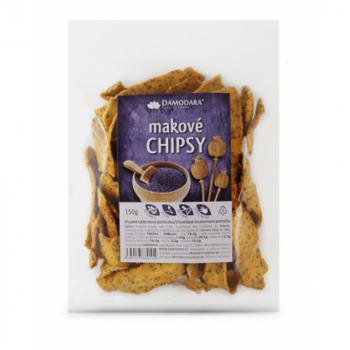 DAMODARA Makové chipsy 150 g