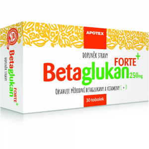 DÁREK APOTEX Betaglukan Forte 250 mg 30 tobolek