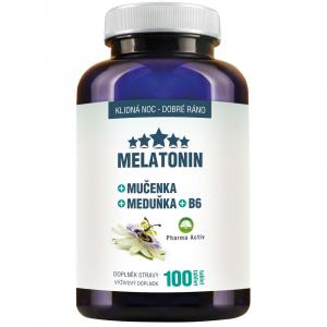 DÁREK PHARMA ACTIV Melatonin Mučenka Meduňka + B6 100 tablet