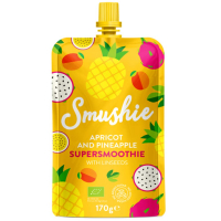 DARČEK SALVEST Smushie BIO Ovocné smoothie s marhuľou, ananásom a ľanovými semienkami (170 g)