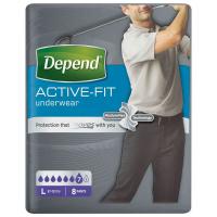 DEPEND Active-Fit absorpčné nohavičky pre mužov 7 kvapiek veľ. L 8 kusov
