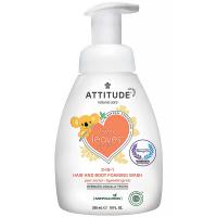 ATTITUDE Baby leaves Detská umývacia pena 2 v 1 s vôňou hruškovej šťavy 295 ml