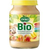 Detská výživa broskyňová s banánmi OVKO 190g - BIO