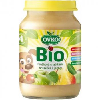 Detská výživa hrušková s jablkami OVKO 190g - BIO