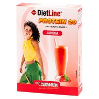 DIETLINE Proteín 20 Koktejl Jahoda 3 vrecká