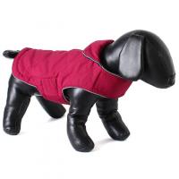 DOODLEBONE Obojstranná zimná bunda pre psov, raspberry/navy, veľkosť XL