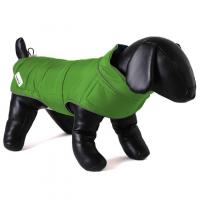 DOODLEBONE Obojstranná zimná bunda pre psov, zelená/oranžová, veľkosť XS