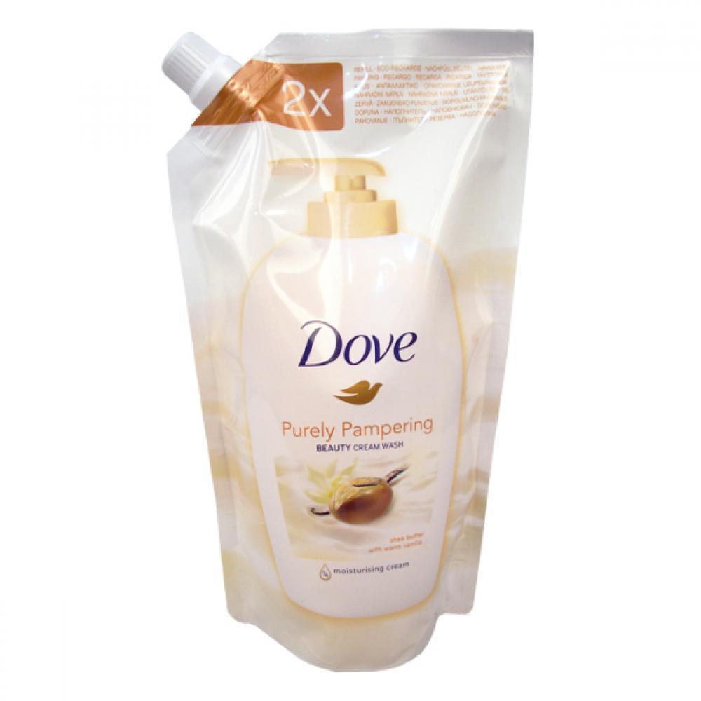 Dove tekuté mydlo náhradná náplň 500 ml Bambucké maslo vanilka