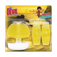 DR DEVIL tekutý wc blok3x55ml 3v1 lemon fresh