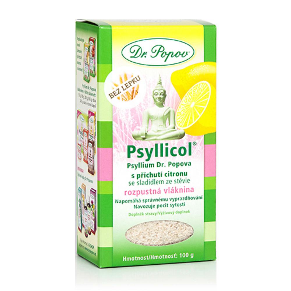 DR. POPOV Psyllicol s príchuťou citrónu 100 g