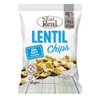 EAT REAL Lentil Chips s morskou soľou 40 g BEZ lepku