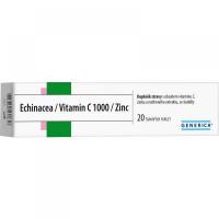Generica Echinacea + Vitamín C 1000 + Zinok 20 tabliet