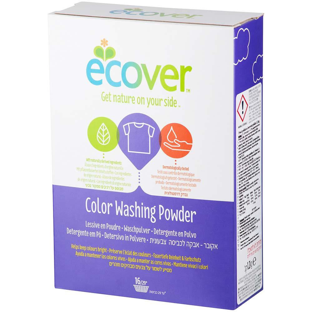 Ecover prací prášok na farebné prádlo 1,2 kg