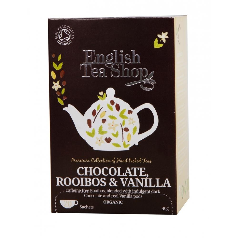 English Tea Shop Bio Čaj Čokokoláda Rooibos Vanilka 20 s.