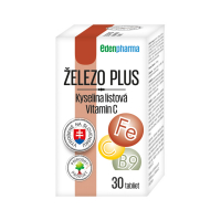 EDENPHARMA Železo plus kyselina listová vitamín C tablety 30 ks
