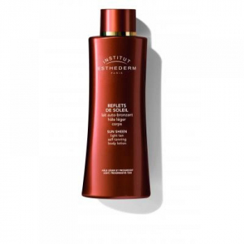 Esthederm Sun Sheen Light tan self-tanning body lotion - samoopaľovacie mlieko na telo fľaštička s pumpičkou 150 ml