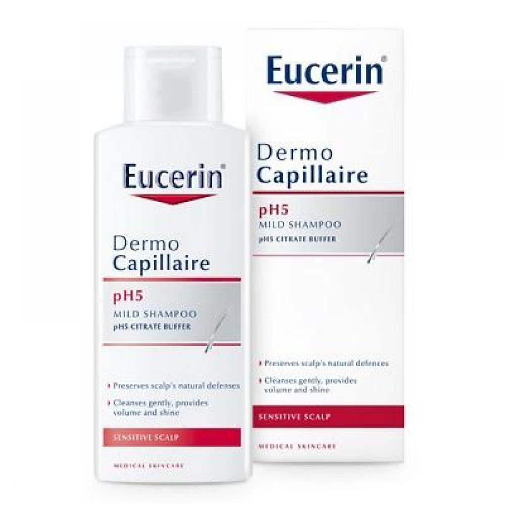 EUCERIN DermoCapillaire pH5 šampón na vlasy pre citlivú pokožku 250 ml