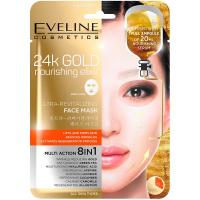 EVELINE 24k Gold Ultra oživujúca vyživujúca pleťová textilná maska s 24k zlatom 20 ml