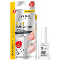 EVELINE Spa Nail Total 8v1 Silver kondicionér na nechty 12 ml