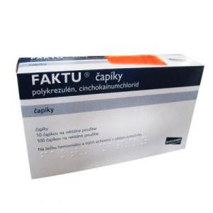FAKTU čapíky sup 100 mg/2,5 mg 10 ks