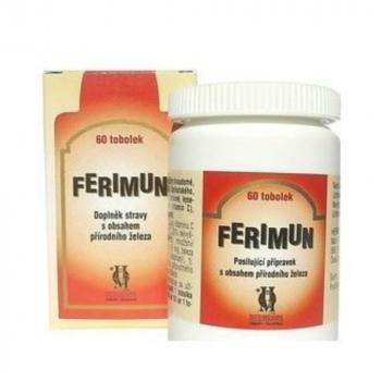 FERIMUN Prípravok s obsahom prírodného železa 60 kapsúl