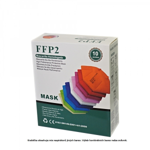 FFP2 Respirátor 10 ks Mix farieb