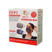 MEIYI FFP2 NR Respirátor vzorovaný  mix 10 kusov