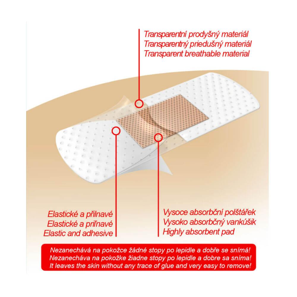 Náplasť Fixaplast CLEAR strip 10 ks